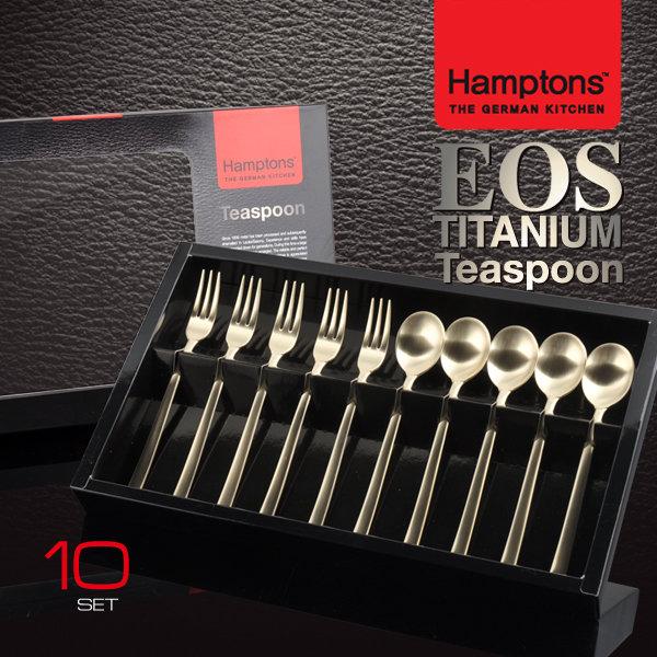 [PV+]햄튼 EOS 티타늄 티스푼세트 10P (HTETC-T2P) 이미지